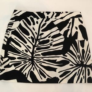 DVF Black & White Print Mini Skirt - Size 4